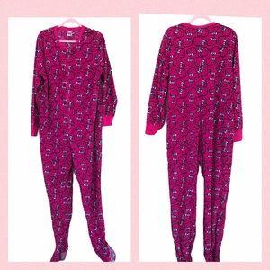 Hello Kitty Fleece Onesie Pajamas Footed PJs Sleep